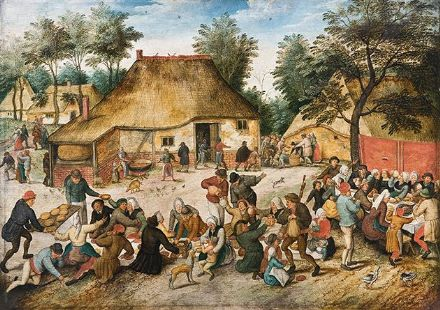 Bruegel the Younger, Pieter: The Peasant Wedding. Fine Art Print/Poster. Sizes: A4/A3/A2/A1 (002002)